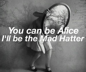 alice in wonderland, crybaby, and mad hatter image