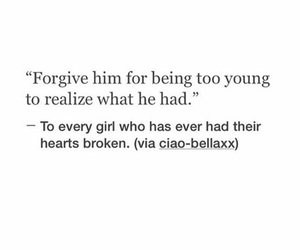 broken, forgive, and heart image