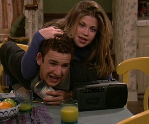 cory matthews, topanga lawrence, and cowan image