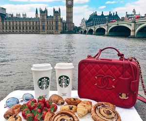 london, starbucks, and chanel image