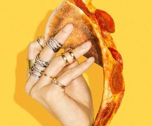 pizza and yellow image