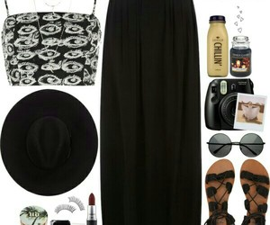 black, boho, and clothes image