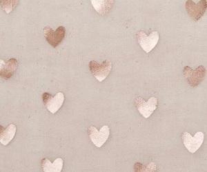gold, hearts, and rosegold image