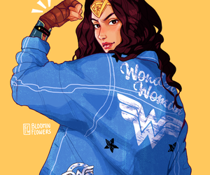 art, wonder woman, and dc comics image