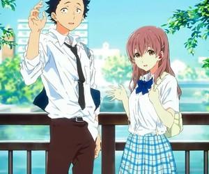 koe no katachi, couple, and anime image