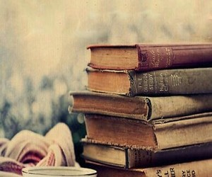 books, coffe, and love image