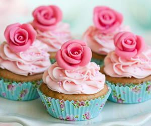 cupcakes, rose, and cute image