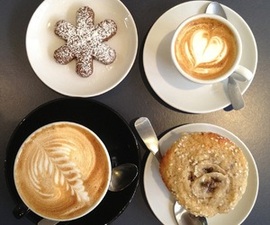 biscuits, breakfast, and coffee image