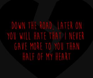 black, broken heart, and john mayer image