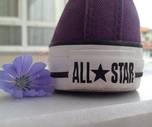 all star, converse, and flower image