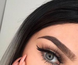 girl, makeup, and eyebrows image