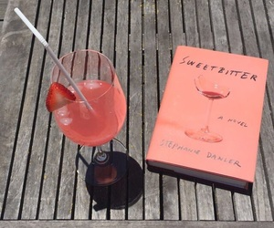 drink, pink, and book image