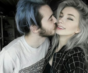 blue, couple, and tumblr image