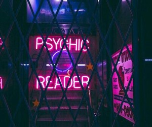 neon, grunge, and purple image