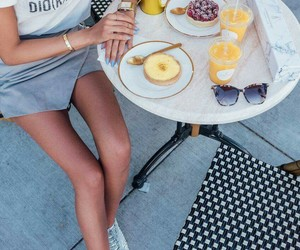 fashion, food, and girls image