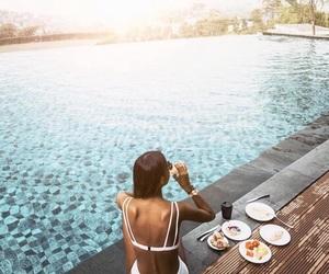 poolside, bikini, and girl image