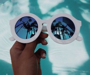 sunglasses, photography, and palm trees image