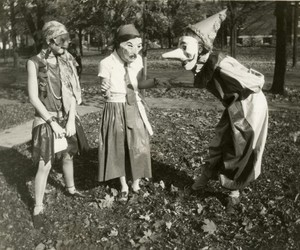 1920s, masks, and Halloween image