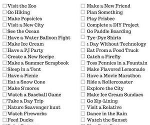 summer bucket list image