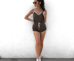 body, brunette, and outfit image