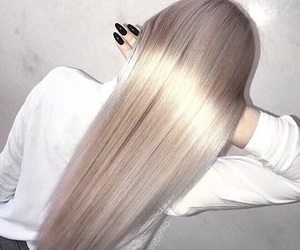 hair, girl, and nails image