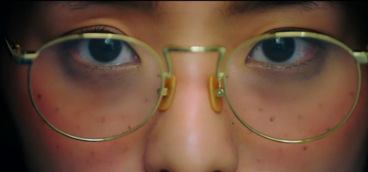 dark circles, girl, and glasses image
