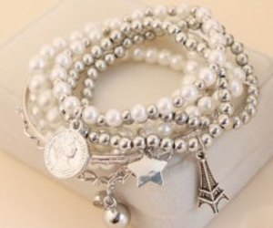 stars, bracelet, and paris image