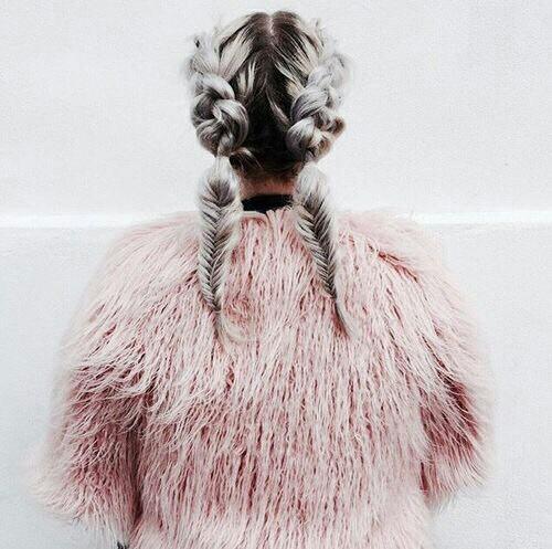 braids, fashion, and fur image