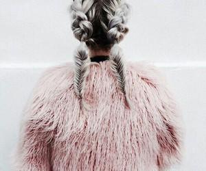 fashion, braids, and fur image