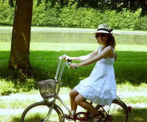 bicycle, spring, and summer image