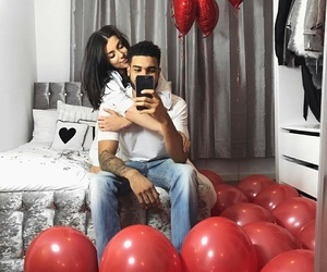 goals, balloons, and couple image