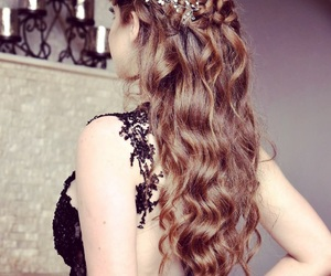 blonde, curls, and dress image