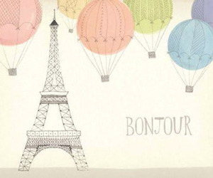 balloons, drawing, and paris image