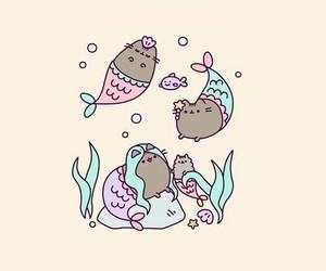 wallpaper, cute, and mermaid image