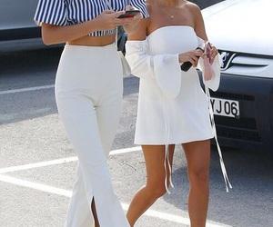 kourtney kardashian, kendall jenner, and fashion image
