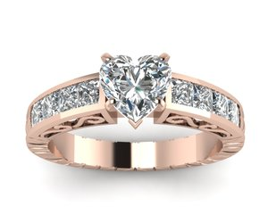 art deco rings and rose gold rings image
