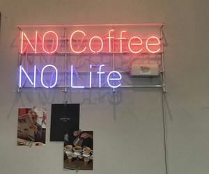 blue, lights, and cafe image