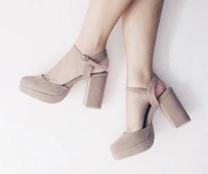beige, girl, and heels image