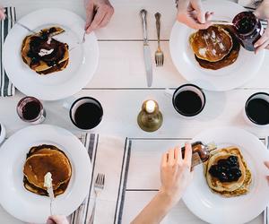 pancakes, breakfast, and food image