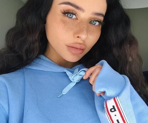 girl, blue, and eyes image
