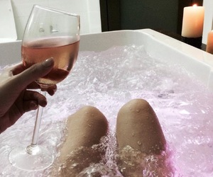 bath, drinking, and girl image