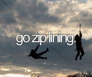zip lining, before i die, and bucket list image