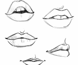 art, draw, and lips image