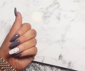 nail art, cute things, and marble nails image