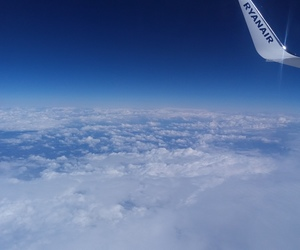 airplane, fly, and ryanair image