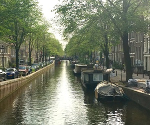 amsterdam, canal, and holland image