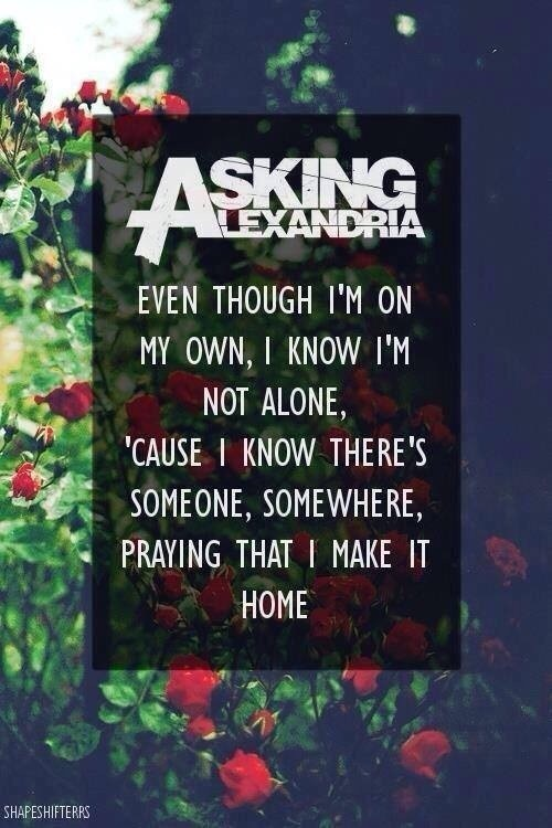 Lyrics, asking alexandria, and band image