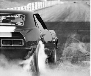 burnout, chevrolet, and drag race image