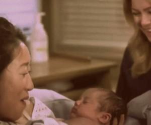 baby, cristina yang, and greys anatomy image