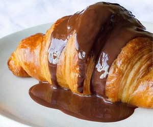chocolate, croissant, and sweet image